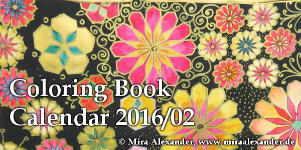 Coloring Books: Neue alte Liebe oder Kalenderblatt 02/2016: