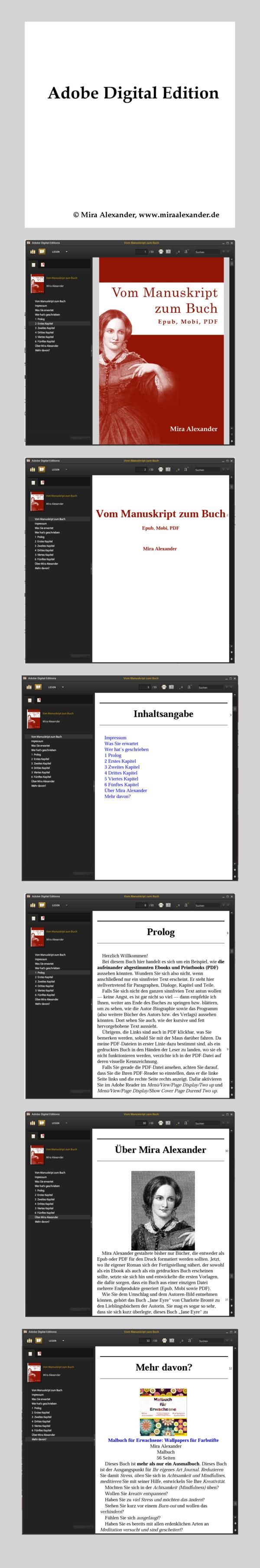 Blau: Roman-Manuskripte in aufeinander abgestimmte Epub, Mobi und PDF umwandeln. Was ist die schönere Vorlage? von Mira Alexander, http://www.miraalexander.de