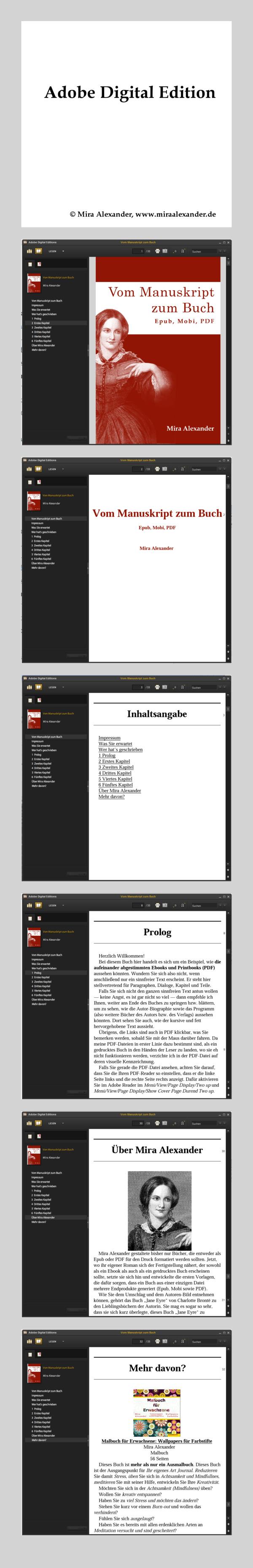 Schwarz: Roman-Manuskripte in aufeinander abgestimmte Epub, Mobi und PDF umwandeln. Was ist die schönere Vorlage? von Mira Alexander, http://www.miraalexander.de