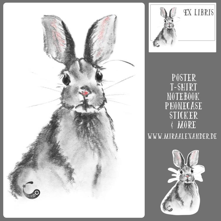 Kaninchen gibt es nun auch bei Redbubble zu kaufen. Von Mira Alexander.