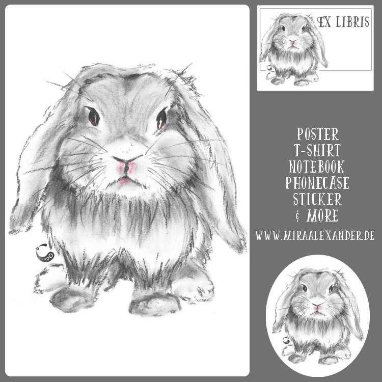 Grumpy Kaninchen gibt es nun auch bei Redbubble zu kaufen. Von Mira Alexander.