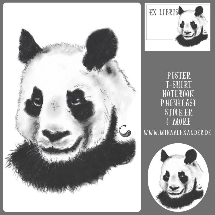 Panda gibt es nun auch bei Redbubble zu kaufen. Von Mira Alexander.