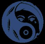 Das Logo in Indigo, dunkel, wie die tosende See