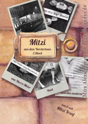 """Buchcover für das Ebook """"Mitzi aus dem Vorderhaus, 2. Stock"""" von Mitzi Irsaj, Design: Mira Alexander, http://www.miraalexander.de +++ #BookCover #PDFformatting #PrintFormatting #Print #PDF #Formatting"""