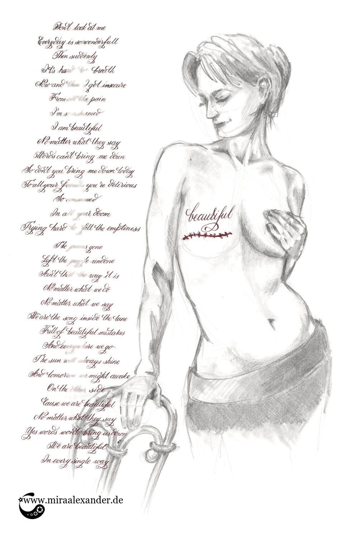 "Kallillustration zum Freitagssong ""Beautiful"" von Christina Aguilera"