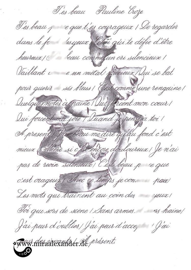 Kallillustration zu T'es beau von Pauline Croze