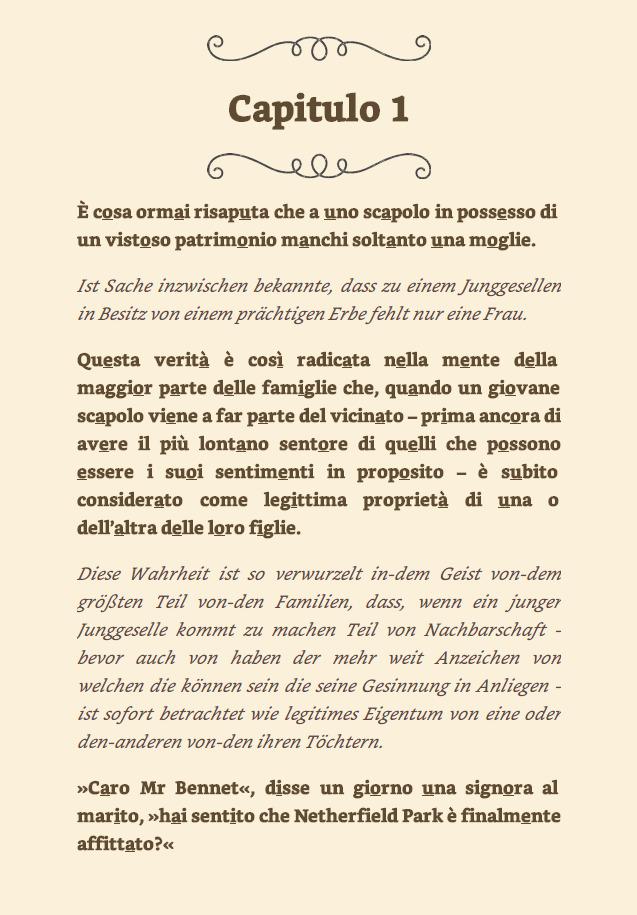 Kapitel 1 meines Italienisch-Kurses